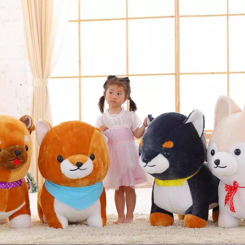 New Big 1pcs 60cm Cute Amuse Dog 3 Brothers Plush Toys Shiba Inu Toy High Quality Soft Stuffed Loyal Pet Kawaii Puppy Kids Gifts