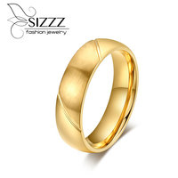 New Fashion Free Shipping Size 12 Gold Plating Tungsten Ring Woman Man S Dome Band Comfort