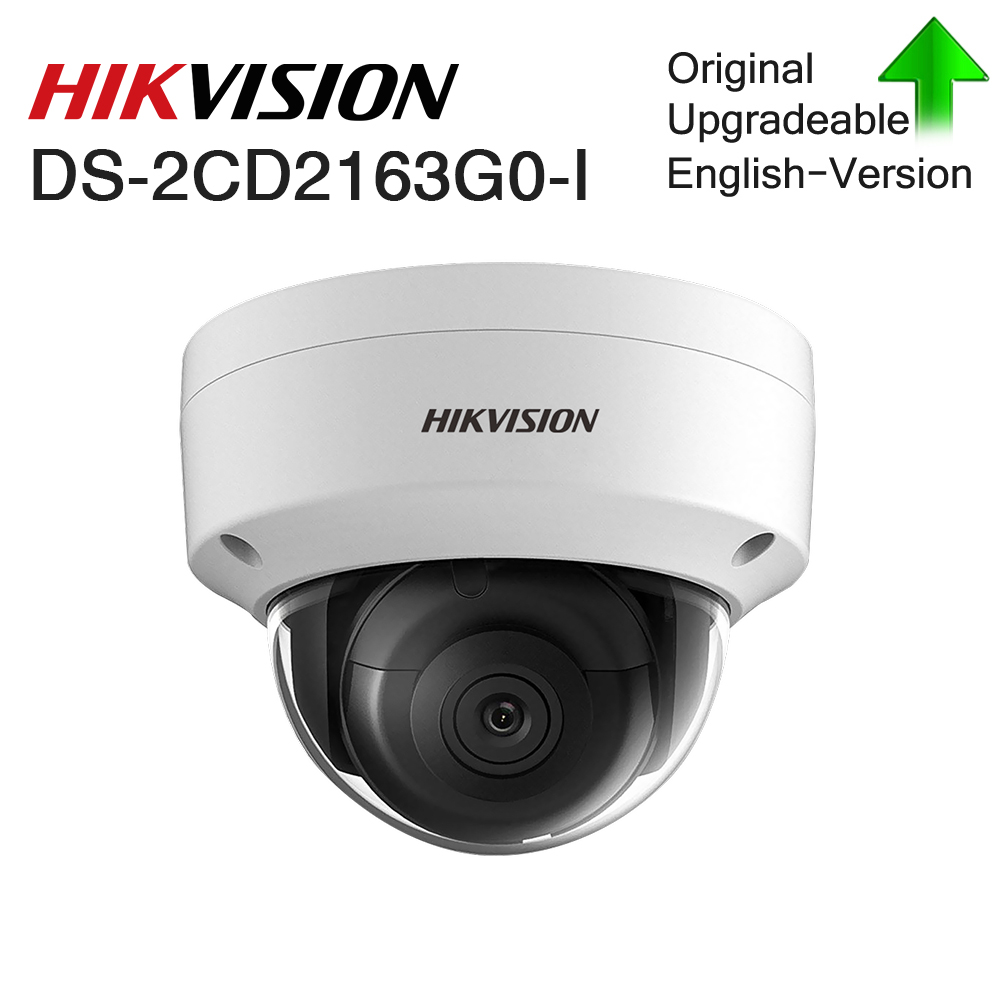 Hikvision Original 6mp CCTV Dome Fixed camera DS-2CD2163G0-I Network mini camera H.265 IP67 security outdoor With Audio&POE image
