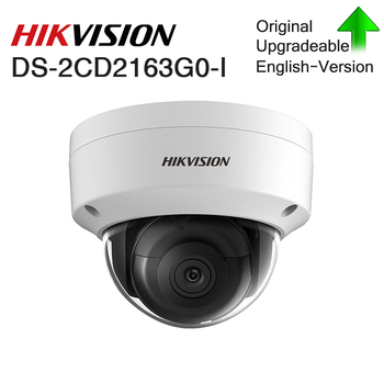 Hikvision Original 6mp CCTV Dome Fixed camera DS-2CD2163G0-I Network mini camera H.265 IP67 security outdoor With Audio&POE