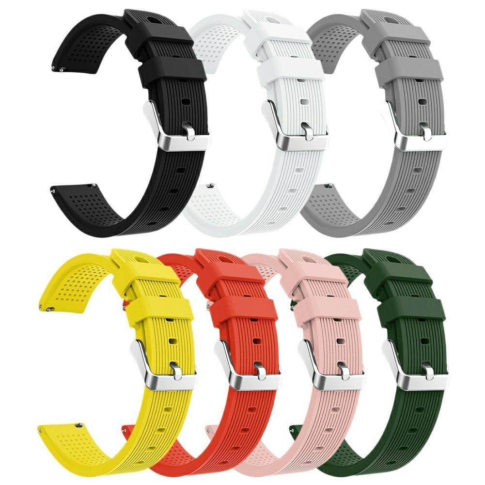 Silicone Watchband Active 20mm Silicone Strap Straight striped Silicone Watchband For Samsung Galaxy Watch-in Smart Accessories from Consumer Electronics