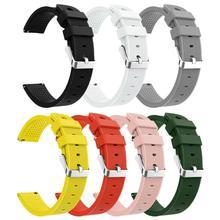 Silikon Armband Aktive 20mm Silikon Strap Gerade gestreiften Silikon Armband Für Samsung Galaxy Uhr