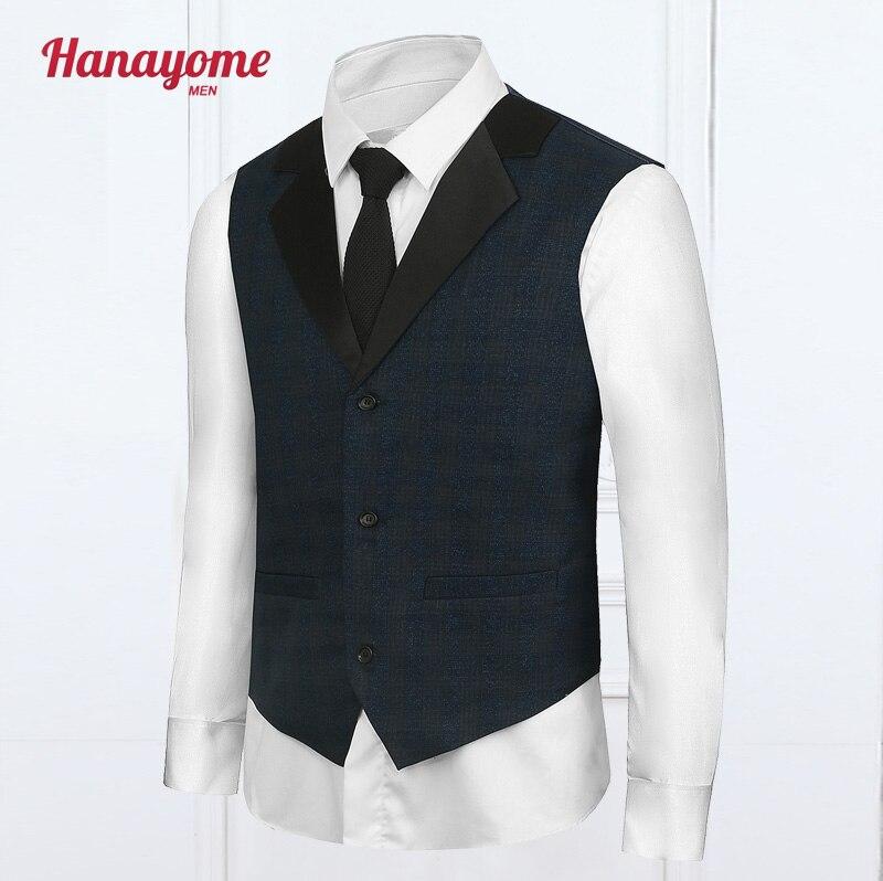 2017 New Formal Vest Casual Waistcoat Dress Wedding Men Slim Fit Suit Jacket And Coat Dark Blue VS45 Free Custom Service