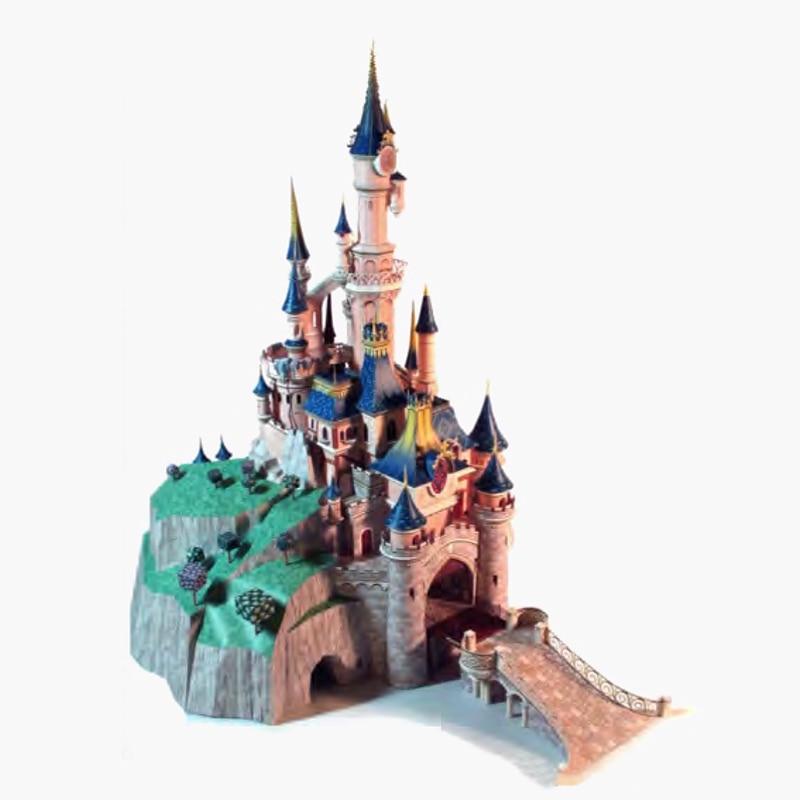 75cm DIY Paris  Sleeping Beauty Castle  Papercraft 3D Paper Model Education Toy Boy Christmas Gift