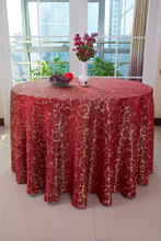 High grade jacquard leaves polyester hotel table cover cloth for weddings,banquets,home