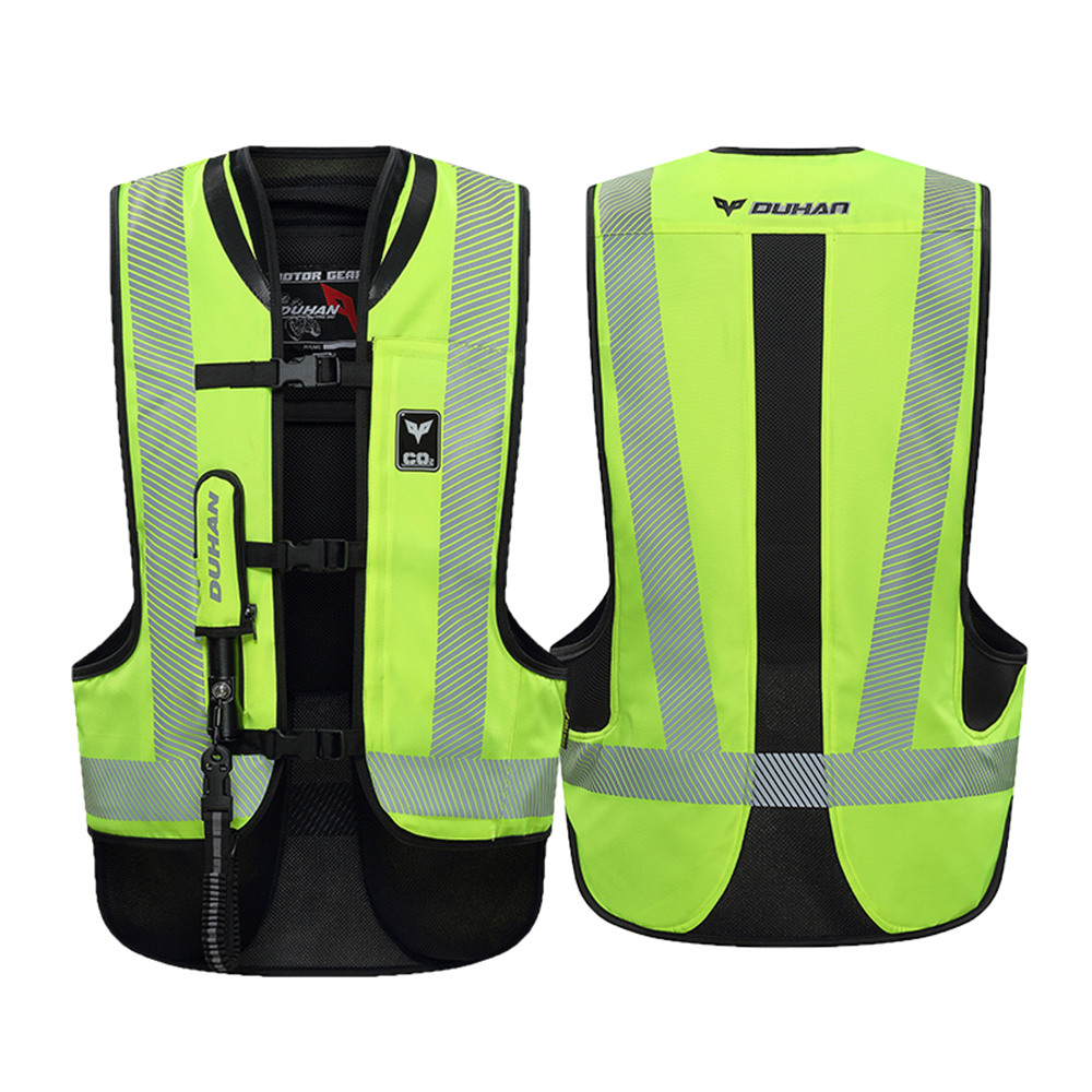 DUHAN Motorcycle Jacket Air bag Vest Motorcycle Vest Air Bag System Protective Gear Reflective Motorbike Airbag Moto Vest
