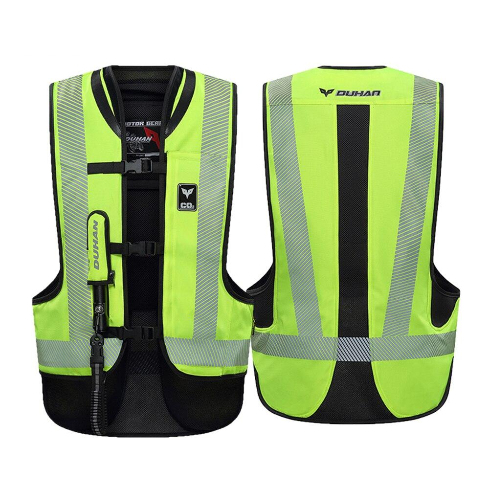 DUHAN мотоциклетная куртка, жилет с воздушной сумкой, мотоциклетный жилет с воздушной сумкой, система защиты, светоотражающая мотоциклетная подушка безопасности, мотоциклетный жилет