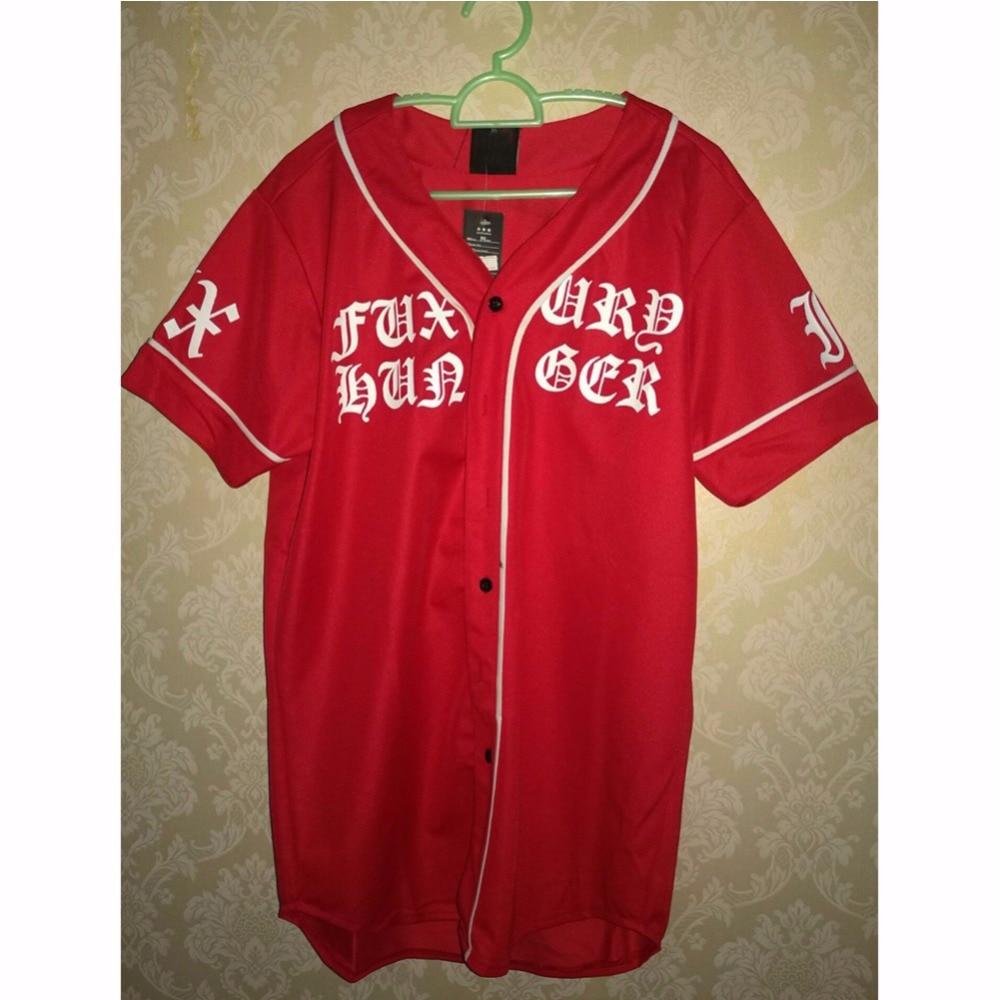 Été Mens Vintage T shirts 2018 Streetwear Hip Hop baseball jersey - Vêtements pour hommes - Photo 5