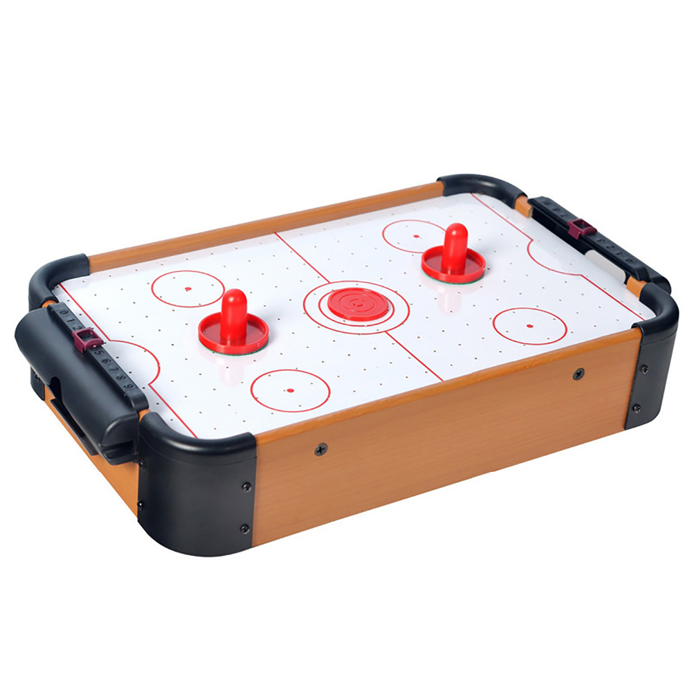 WIN MAX Table Game Series Toy Mini Air Hockey with 2 Pushers and 1 Puck for