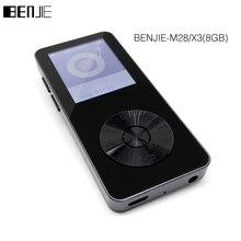 Benjie original x3 8 gb mp3 reproductor de música portátil de alta calidad Reproductor de Audio Digital con FM Radio Grabadora de Voz Apoyo TF tarjeta