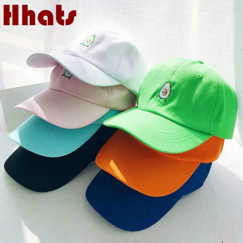 Nakış Avokado Baba Şapka Kadınlar Için Pamuk Meyve beyzbol şapkası Hip Hop Yaz Kavisli Kpop Kap % 100% Pamuk K Pop Snapback şapka