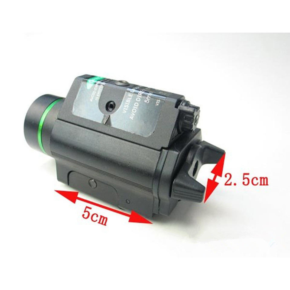 Tactical Green Laser Sight with LED Flashlight 2 in 1 Combo 20mm Mount Ultra Bright 225 lumen for Glock 17 Hunting-2