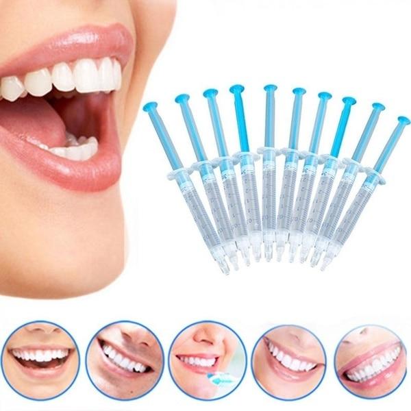 10Pcs Useful Teeth Whitening Gel Peroxide Dental Bleaching Dental Tooth Care Kit