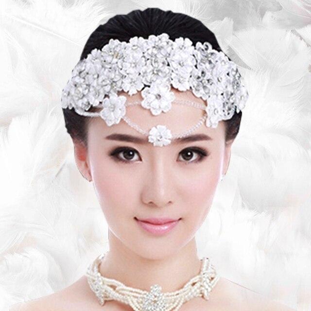 Braut Diaries Spitze Kopfschmuck Weiss Blumen Hochzeit Haar Zubehor