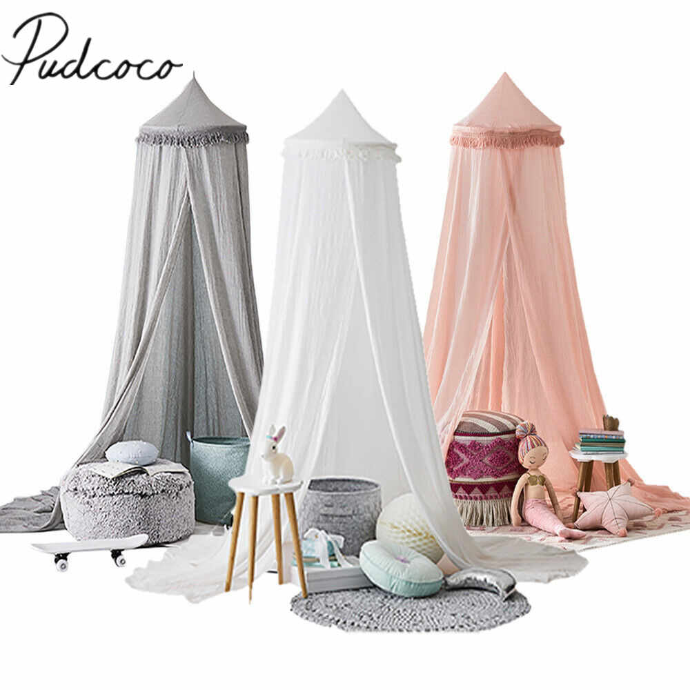 2019 Baby Crib Netting Princess Baby Breathable Mosquito Net Lace Bed Canopy Bedding Dome Tent Curtain