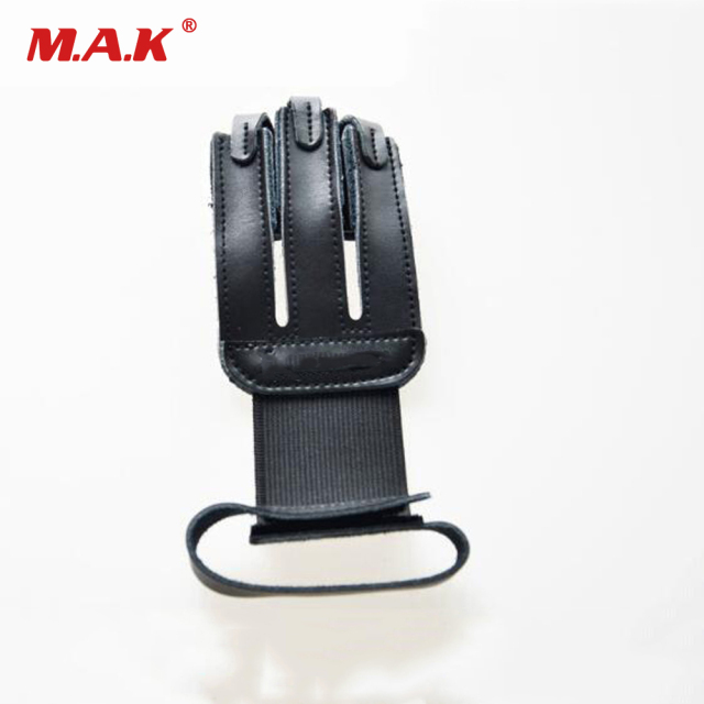 Finger Protection Guard Cow Leather 3 Finger Protect Glove Archery Accessory for Target Hunting Shooting 1
