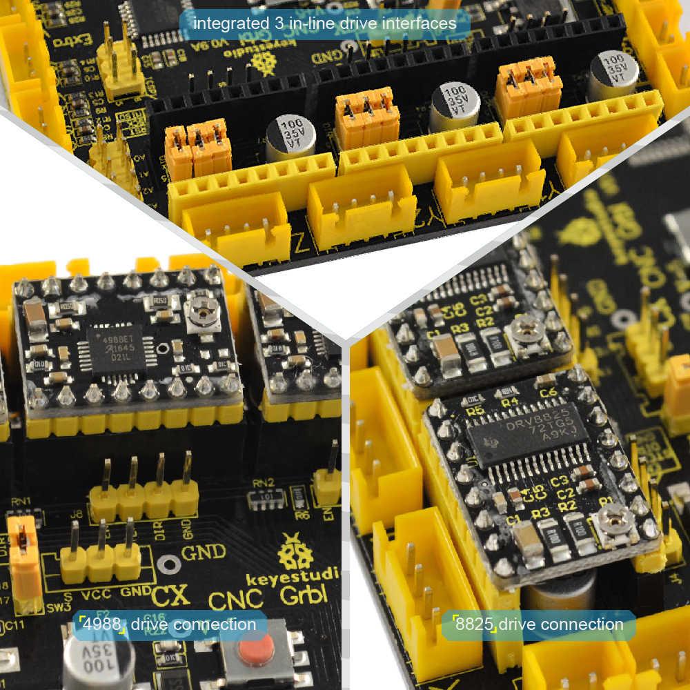 New Keyestudio CNC GRBL V0 9 Shield Board +USB Cable for Arduino CNC/Laser  Engraving