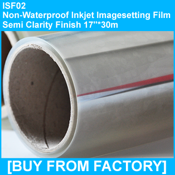 "Inkjet Imagesetting Film Semi-clarity Not water proof 17""*30M"
