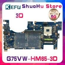 KEFU For G75V ASUS motherboard G75VW G75V G75VX 3D HM65 DDR3 laptop motherboard tested 100% work original mainboard for asus k53sd main board rev 5 1 laptop motherboard intel hm65 nvidia geforce gt610m graphics ddr3 full tested