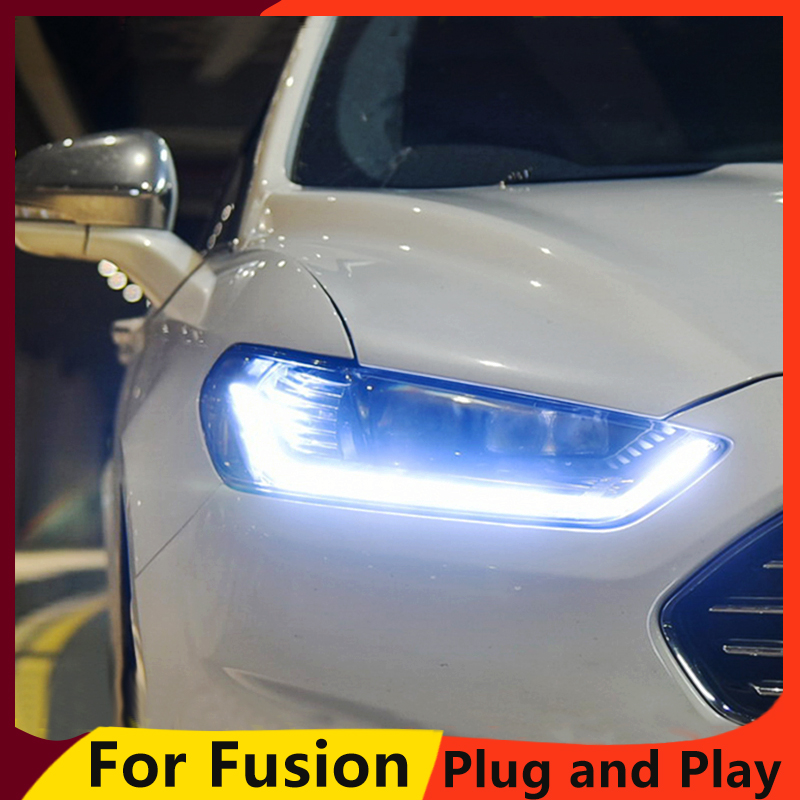 Car styling Head Lamp Case For Ford Mondeo 2007 2012 Headlight for fusion Headlight DRL Option