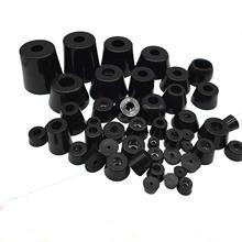 4 шт. размеры на выбор черный резиновый коврик для ног с стальной шайбой Нескользящая мебель стол конический