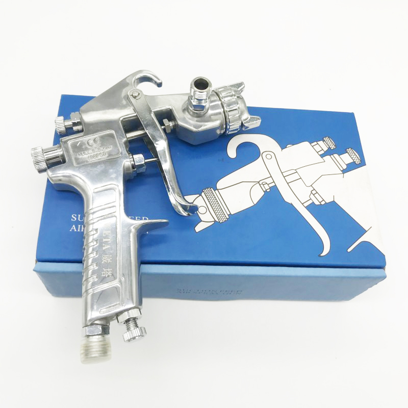 Weta HVLP W71 Pressure feed spray paint gun 1.5mm Airbrush airless spray gun for painting cars Pneumatic tool air brush sprayer 125ml airbrush magic spray gun airless paint sprayer air brush alloy painting paint tool professional power tool
