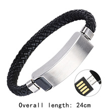 Sports bracelet usb charger for phone cable data line adapter charging wire port