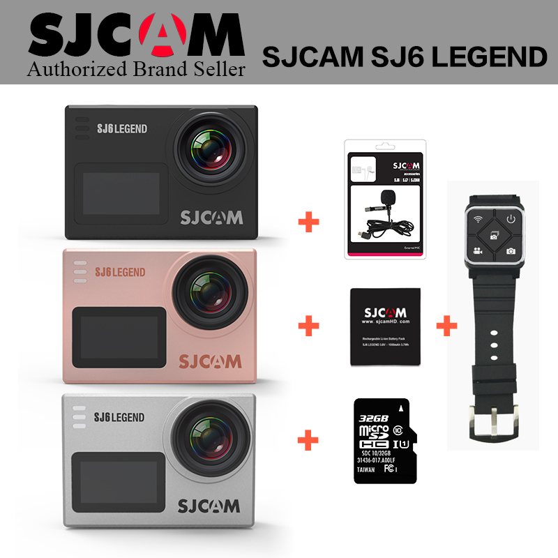Original SJCAM SJ6 LEGEND 4K 24fps Ultra HD Notavek 96660 Waterproof Action Camera 2.0 Touch Screen Remote Sports DV Camcorder in stock sjcam legend sj6 wifi notavek 96660 4k 24fps ultra hd waterproof camera action cam 2 0 touch screen remote sport dv