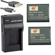 DSTE 2pcs NP-BK1 NPBK1 Battery Case Protector + UDC16 USB Charger for Sony DSC-S750 DSC-S780 DSC-S850 DSC-950 DSC-980 W180 W190