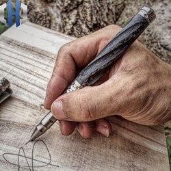 Długopis taktyczny z włókna węglowego stop tytanu samoobronny długopis obronny Survival EDC Pen w Zewnętrzne narzędzia od Sport i rozrywka na