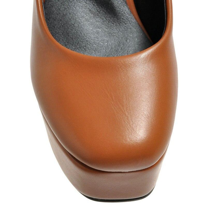 delle occidentale Slip 34 2019 stile da tacchi quadrata scarpe Marrone punta di donne spessi Esveva beige della On pompe nero 39 alti formato piattaforma marrone sposa Ol BI8qUq