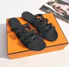 e62d62733 2019 new summer five chain plastic tow women pig nose slippers brand H sandals  women jelly Slipper Outside shoes with box