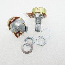 5 шт./лот WH148 B100K линейный потенциометр 15 мм вал с Гайки и Прижимные шайбы Горячие 3pin высокое качество