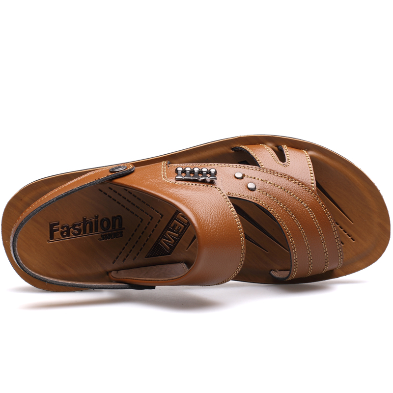MUHUISEN Muška 100% Genuine Leather Sandale Novi Famous Brand Casual - Muške cipele - Foto 5
