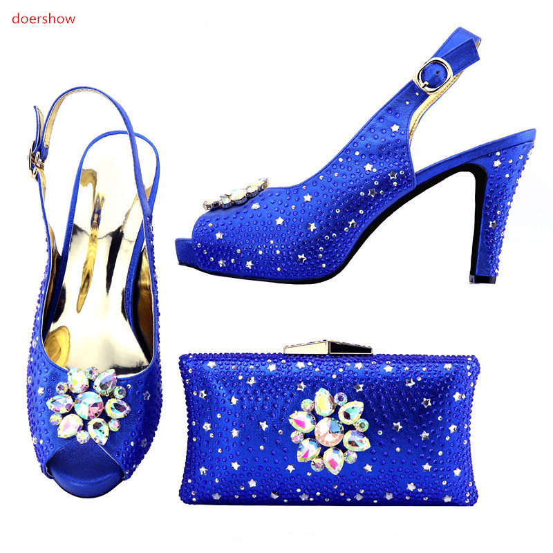 doershow African Shoes and Bag To Match High Quality Italian Shoe and Bag Set Nigerian Party Shoe and Bag Set Wedding !HMO1-1 doershow women shoe and bag to match for parties african shoe and bag set for wedding in women white high quality lulu1 23