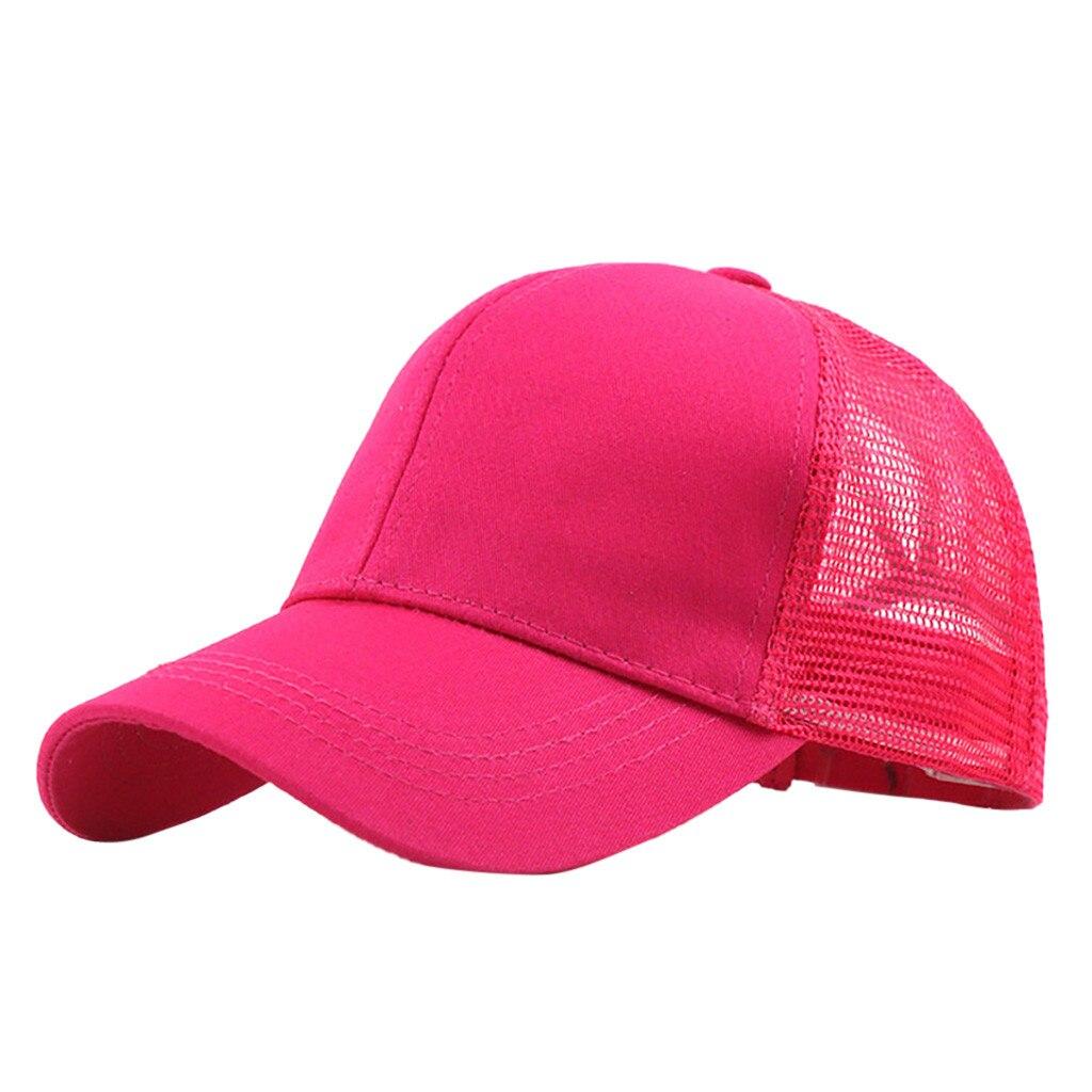 Baseball Cap Summer 2019 Ponytail Messy Buns Trucker Plain Baseball Visor Cap Unisex Hat Women Mens Casquette Homme #P4