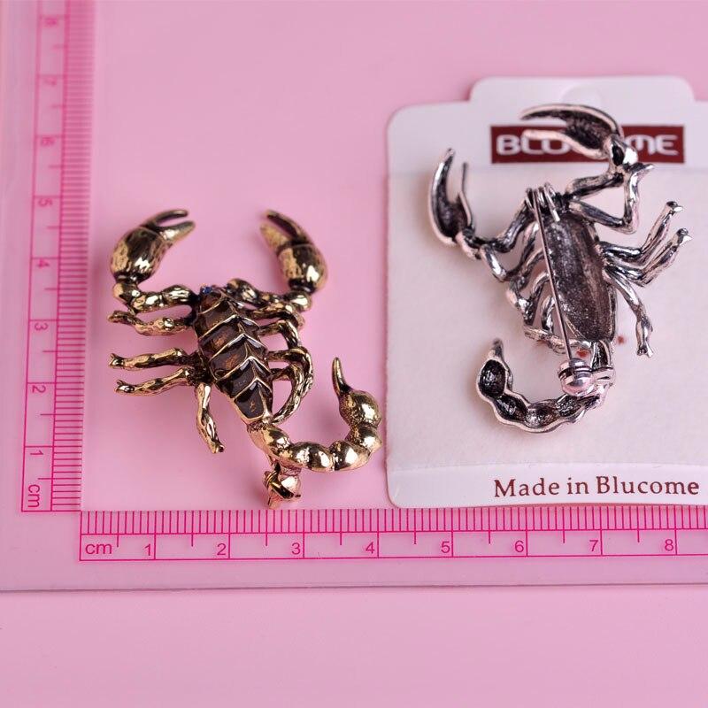 Blucome pretjerivanje Ljubičasti broševi škorpiona za žene - Modni nakit - Foto 6