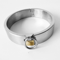 Adult Game Stainless Steel Fetish Necklace Slave Bondage Chastity Erotic Restraint Neck Collar Sex Toys For Men Women Couples