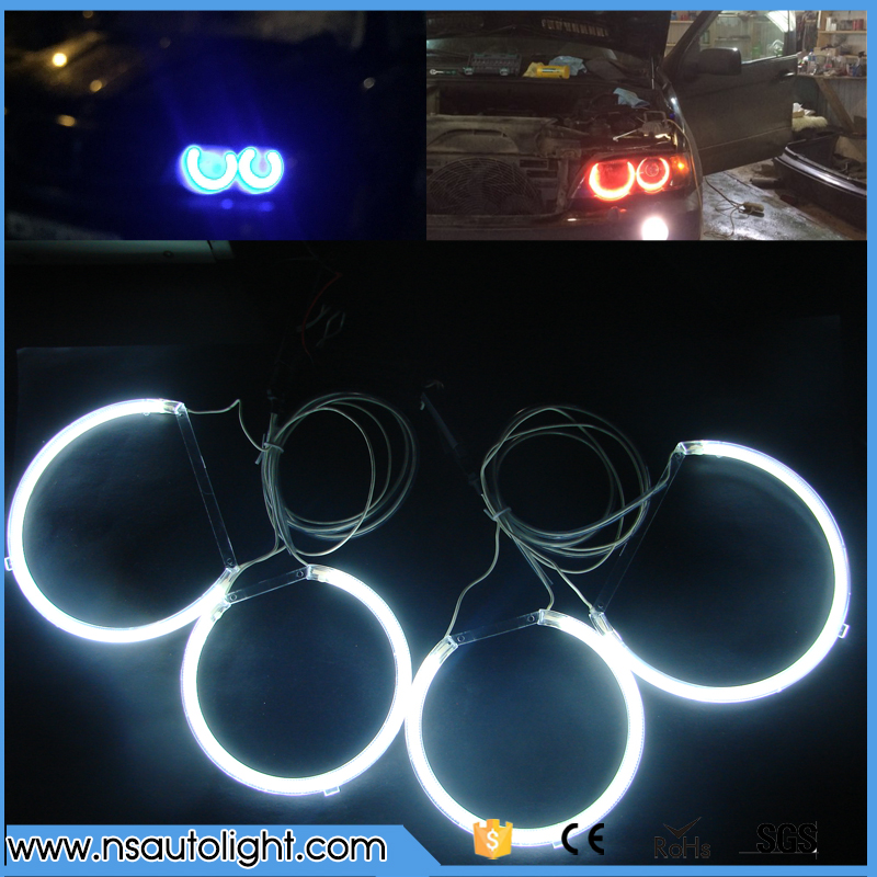 4 pieces ultra bright 160mm & 127mm ccfl angel eyes ring for BMW E53 X5 CCFL Angel Eyes kit with 2 ccfl inverters lighting free shipping ccfl angel eyes for bmw e90 e90 non projector halo ring e90 ccfl angeleyes lights