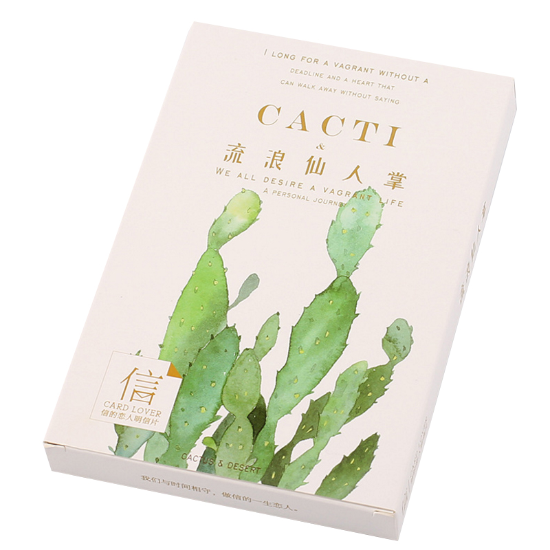 30 Pcs/lot Kawaii Plant Cactus Greeting Card Postcards Birthday Christmas Gift Greeting Card/wish Card/Fashion Gift