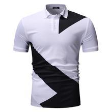 Men Polo Shirt Mens Clothing Casual Tops Tees Summer POLO Shirts Fashion Black White