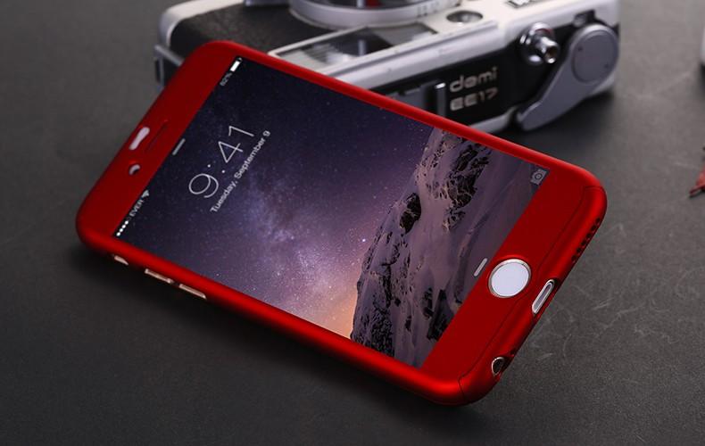 Floveme 6 s 7 plus armor screen protector 360 stopni case dla iphone 7 6 6 s dla iphone 6 6s 7 plus full chroń odporny na wstrząsy pokrywa 17