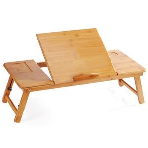Image 3 - Magic Union Draagbare Folding Bamboe Laptop Tafel Sofa Bed Thuis Laptop Stand Computer Notebook Bureau Bed Eettafel Plus Size