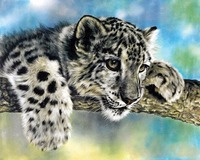 Hot Sale New Diamond Embroidery 5d Diamond Painting Leopard On The Tree Animal Beads Cross Stitch