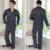 BabYoung 2017 Hombres Pijama De Raso De Seda Establece Sección Delgada ropa de Dormir Con Cuello En V Manga Larga Pijamas Loungewear Hombre Más Tamaño XXXL