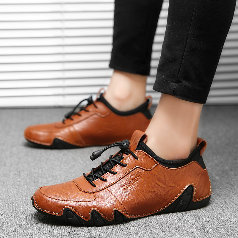 Casuais Ramialali red Mocassins Até Couro Homme Brown Do Real Marca Sapatos Rendas amarelo Chaussure Vintage De Homens Luxo Preto r7qa4wArx