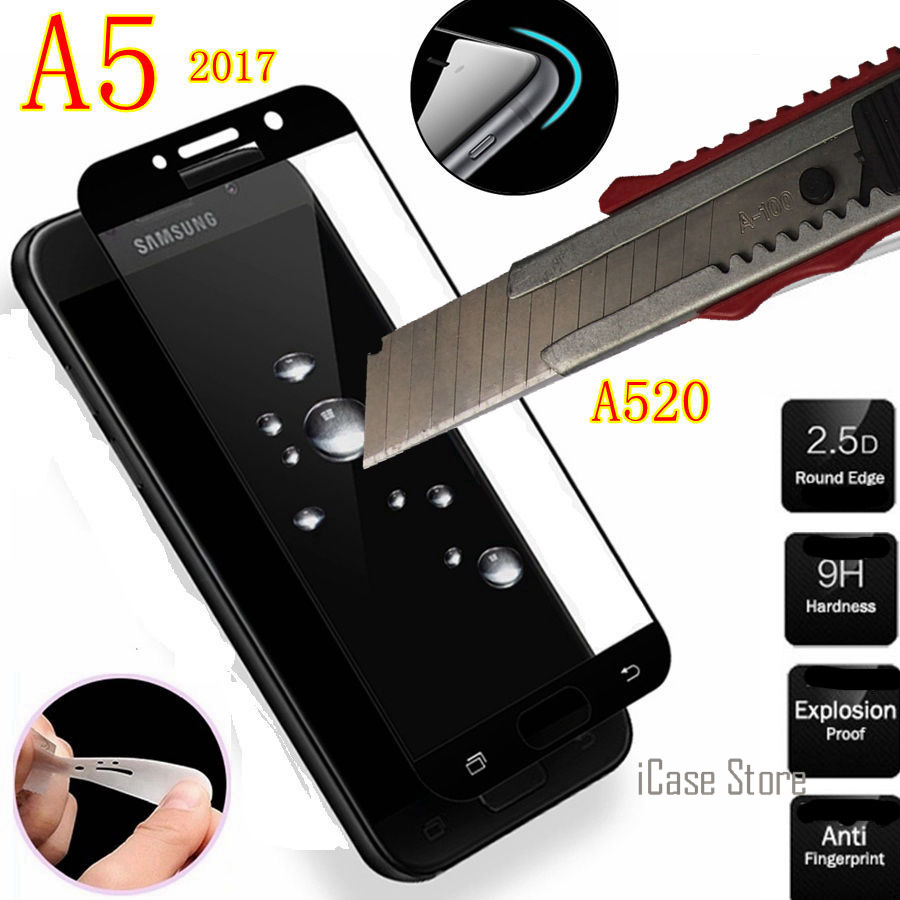 new All Screen Protector Tempered <font><b>Glass</b></font> For <font><b>samsung</b></font> galaxy A5 2017 GLAS SKLO film foR <font><b>Samsung</b></font> SM A520F <font><b>A520S</b></font> A520D A520M A520Y image
