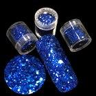 MIX Nails Art Glitter Powder Colored Light Brilliant Single Sapphire Blue Nail Glitter Powder Acrylic Powder Nail DIY Dusty 715