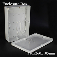 1 Piece Lot 380x260x105mm Grey ABS Plastic IP65 Waterproof Enclosure PVC Junction Box Electronic Project