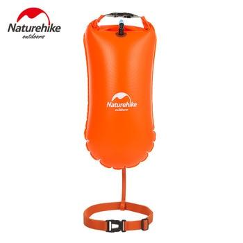 Naturehike 8.5L 20L Saco Seco Impermeável Saco De Armazenamento Para O Nadador Natação Duplo Airbag PVC Dupla Bóia Salva-vidas Equipamentos de Segurança